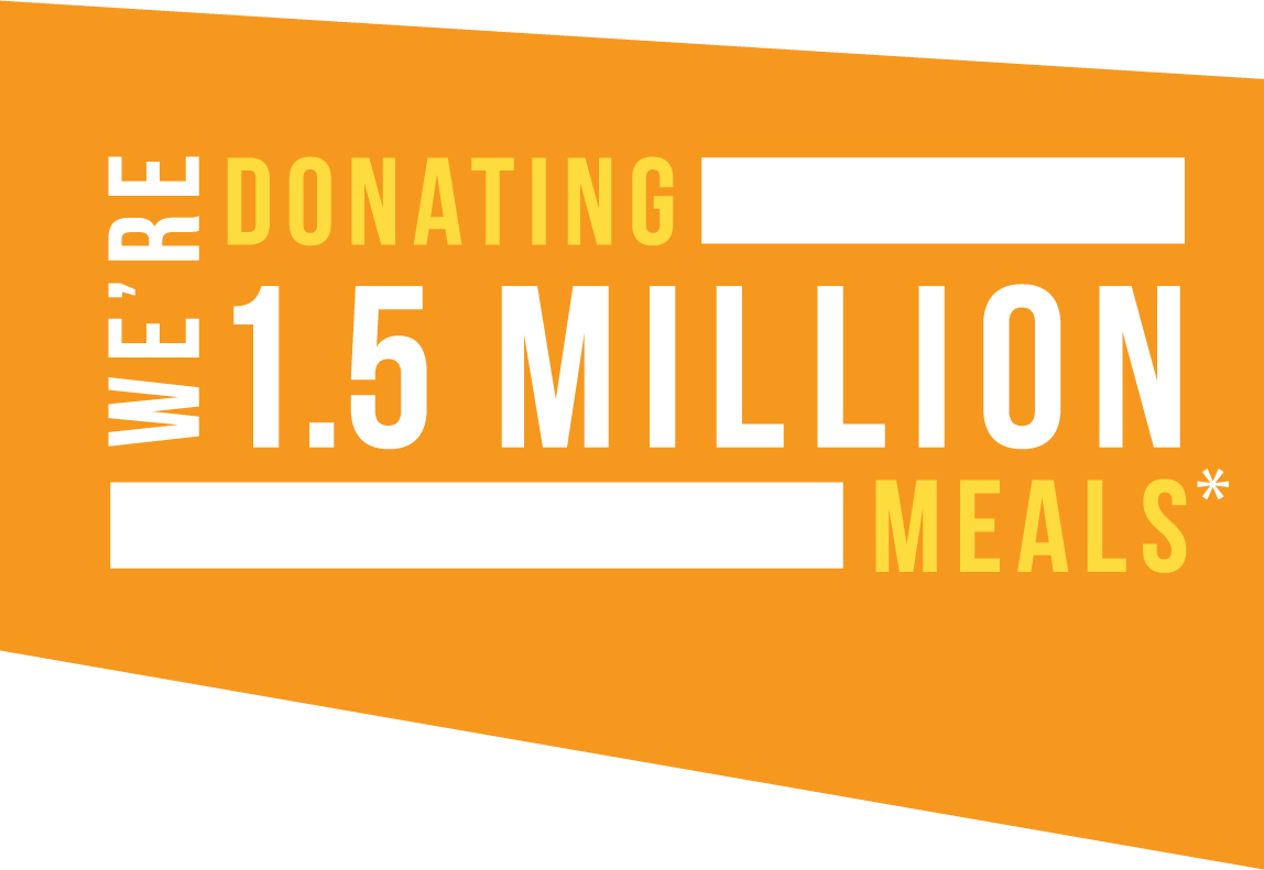 Donating 1.5 Million Meals