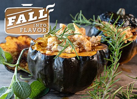 Baked Acorn Squash & Ground Beef