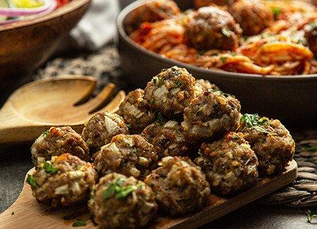 Baked Italian Pork Meatballs