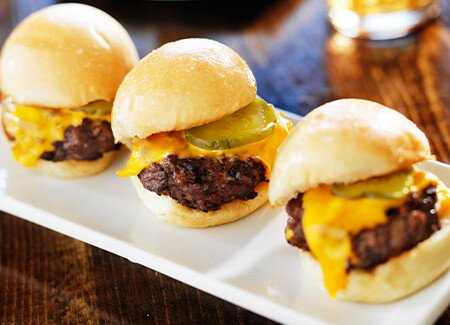 Beef & Cheddar Sliders