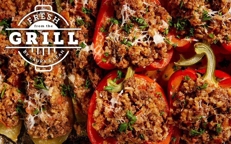 Beef Stuffed Bell Peppers & Zucchini Boats