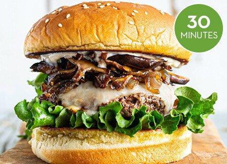Beefy Mushroom Burger
