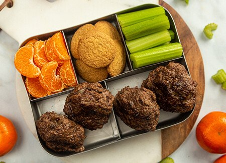 Bento Box Ground Beef Hamburger Steak