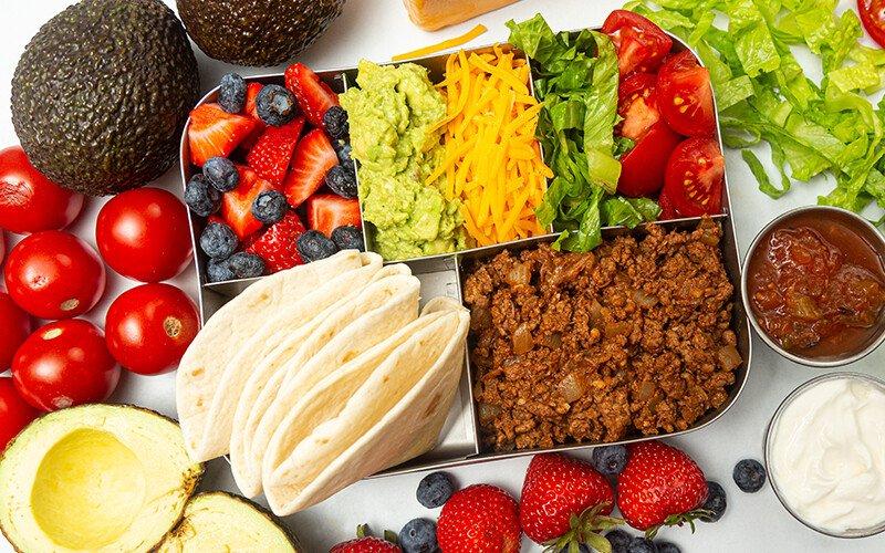 Bento Box Ground Beef Lunchbox Tacos