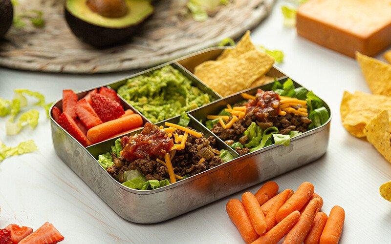 Bento Box Ground Beef Taco Salad