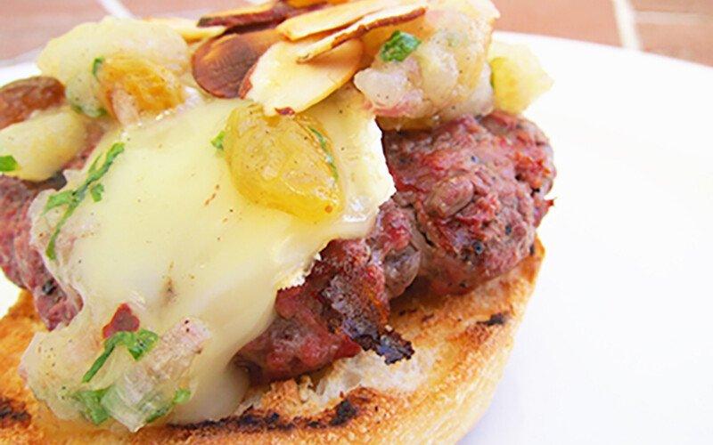 Brie & Pear Burger