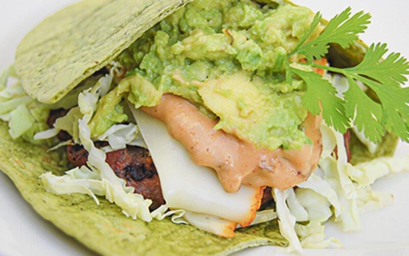California Burger Wrap with Guacamole