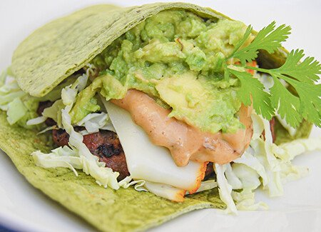 California Burger Wrap with Guacamole