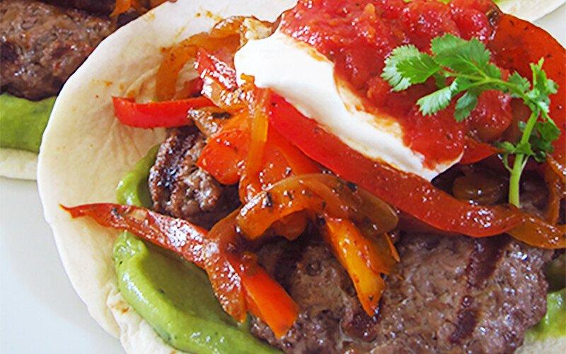 Fajita Burger with Guacamole