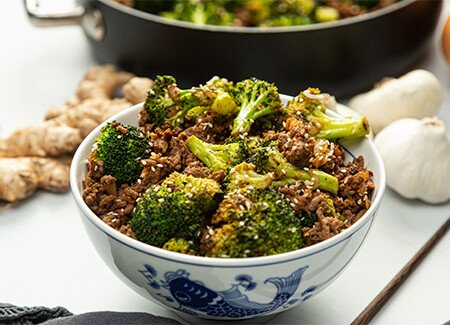 Ground Beef & Broccoli