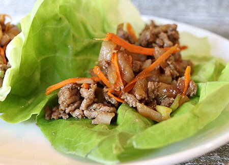 Ground Beef Asian Lettuce Wraps