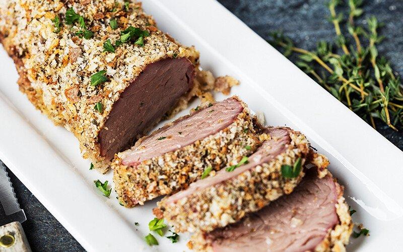 Herb Breaded Pork Tenderloin