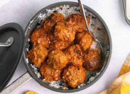 Instant Pot Tikka Masala Beef Meatballs