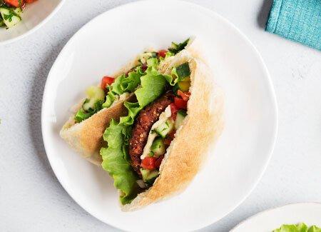 Plant-Based Pita Burger