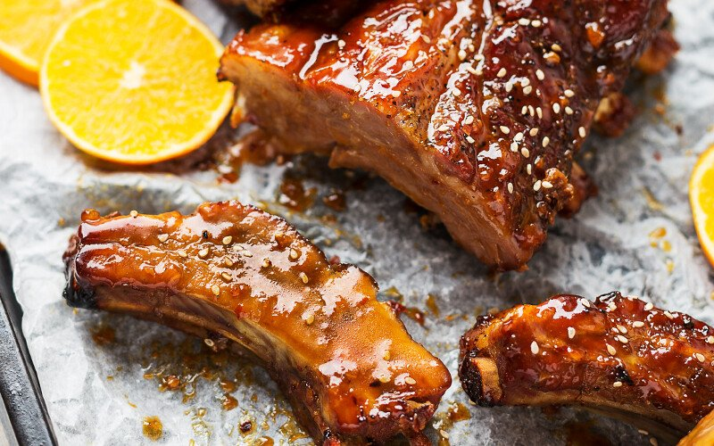 Pork Back Ribs with Toasted Spices and Chutney