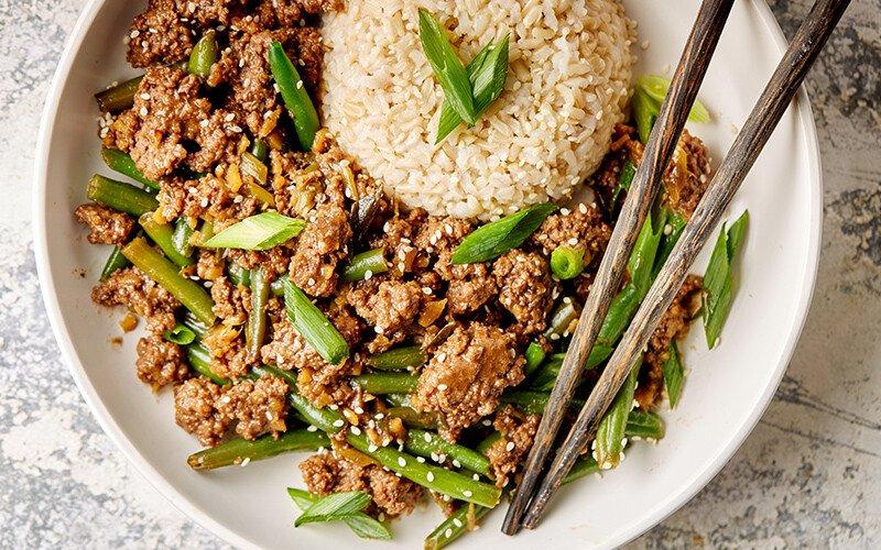 Sesame Ginger Green Beans & Beef