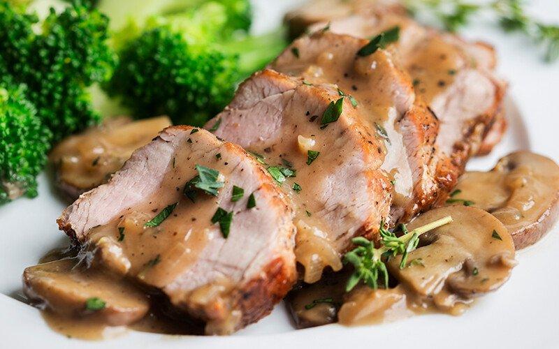 Skillet Pork Tenderloin Marsala