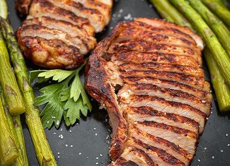 Smoked Glazed Pork Loin Chops