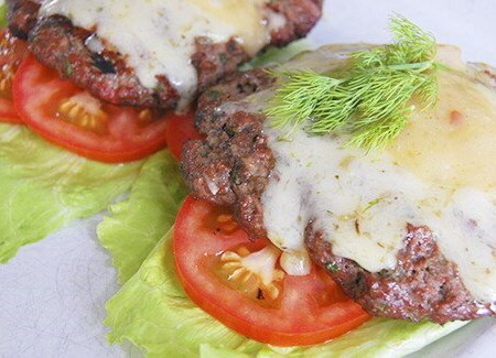 Spring Herb Cheeseburger