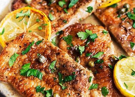 Tangy Pork Picatta